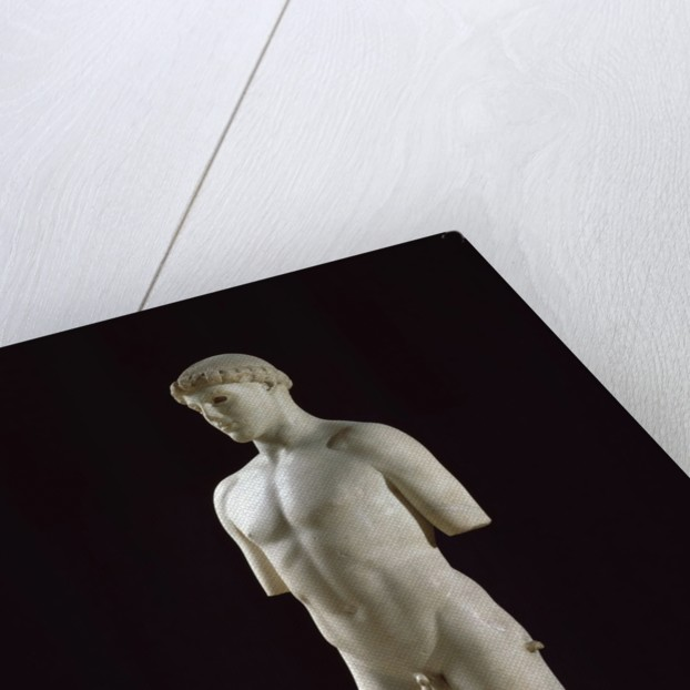 Ancient Greek sculptur of the Kritios Ephebe by Corbis