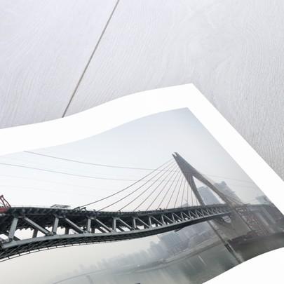 Dongshuimen Bridge Construction, Chongqing, China by Corbis