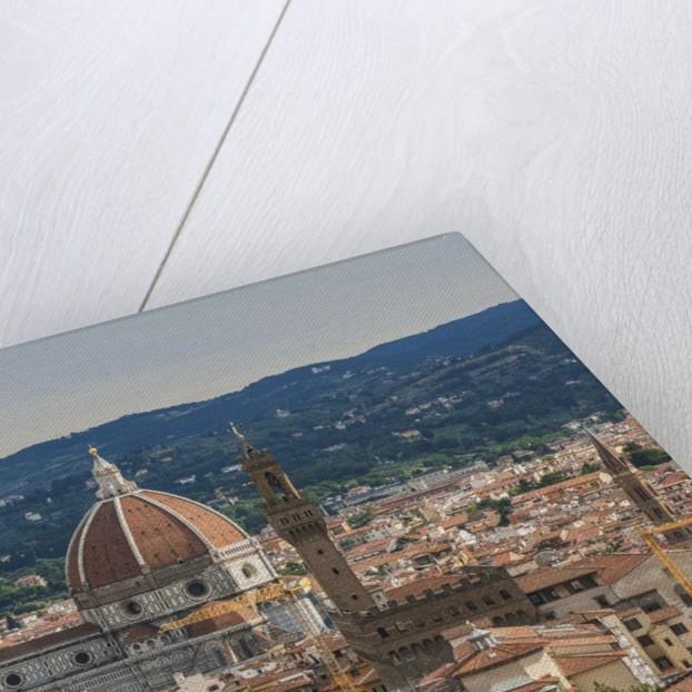 View of Santa Maria del Fiore Cathedral and Palazzo Vecchio from Forte Belvedere by Corbis