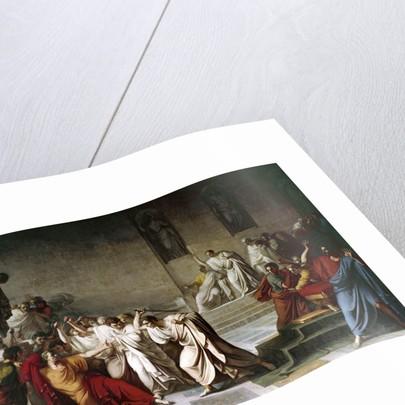 The death of Julius Caesar in the Roman Senate by Vincenzo Camuccini