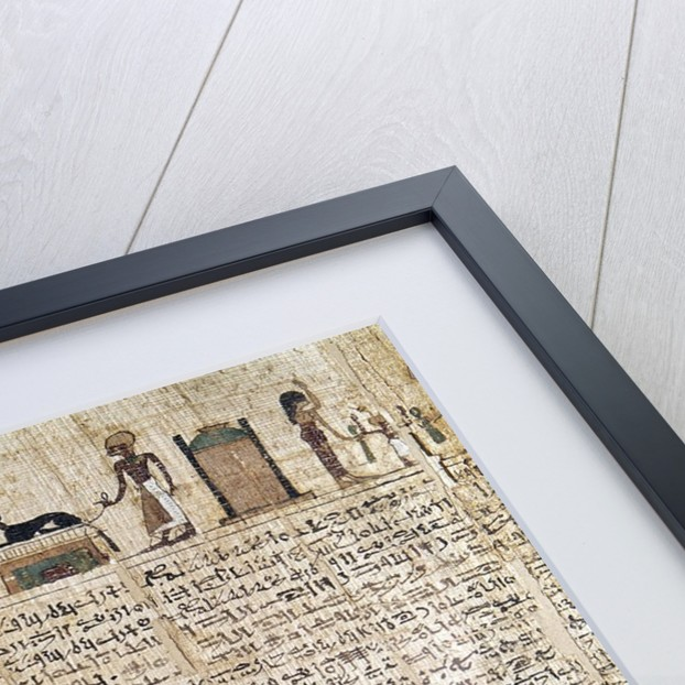 Egyptian Antiquity : papyrus of the Book of the Dead by Corbis