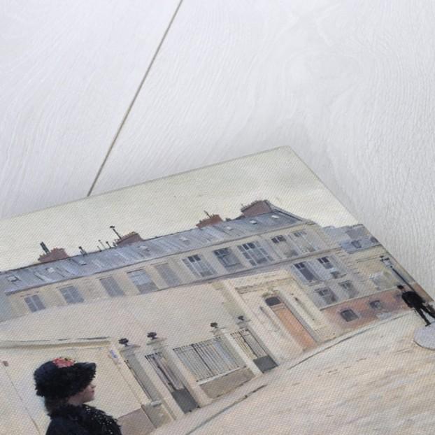 Waiting, rue de Chateaubriand in Paris by Jean Beraud