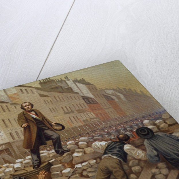 Alphonse Baudin on the Barricade of Faubourg Saint-Antoine by Corbis