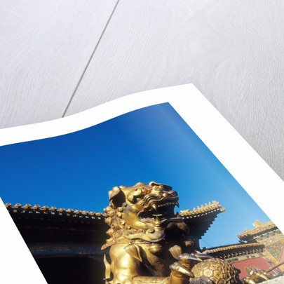 Guardian Lion at Forbidden City on Tiananmen Square, Imperial Palace, Beijing, Dongcheng District, China by Corbis