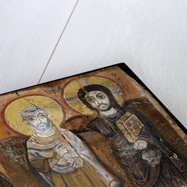 Christ and Abbot Mena, Coptic painting by Corbis