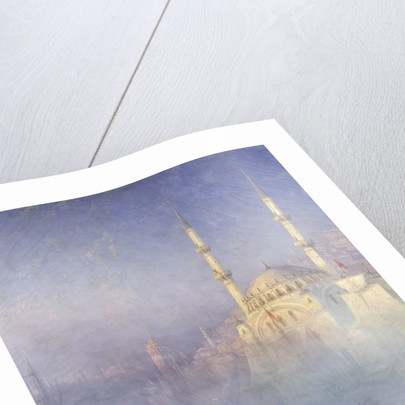 Constantinople, the mosque Tophane by Ivan Constantinovich Aivazowski