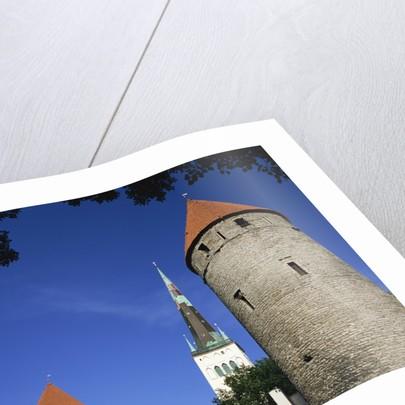 Oleviste Church, Old Town Wall, Old Town, Tallinn, Estonia by Corbis