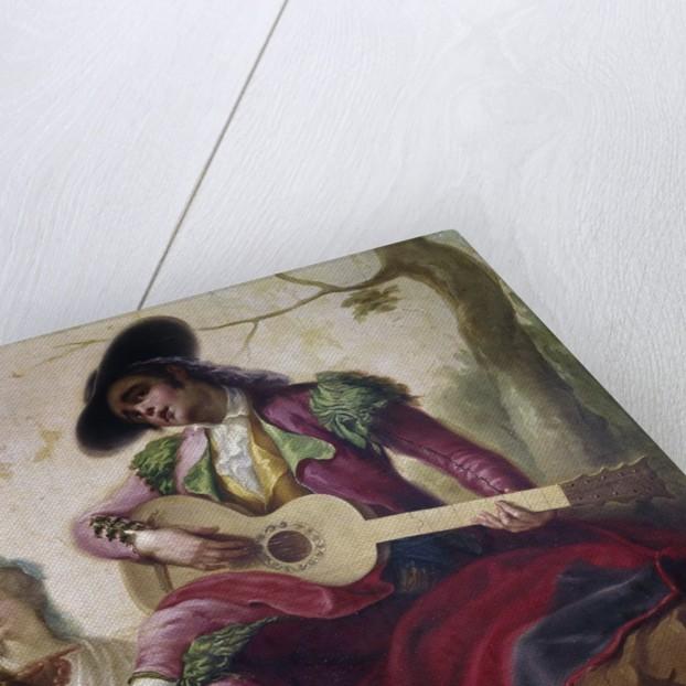 A majo with a guitar by Ramon Bayeu