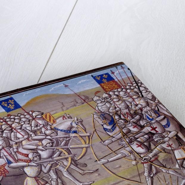 The Battle of Crecy, 1346 - 14th century illumination by Corbis