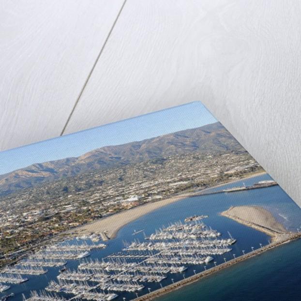 Aerial View of the Santa Barbara Harbor in Santa Barbara, California by Corbis