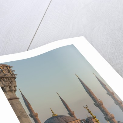 Firuz Aga mosque and Sultan Ahamet Camii (Blue Mosque) by Corbis