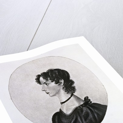 Engraving of Anne Bronte by Walker and Boutall