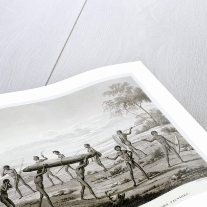 New Holland, Port Jackson: Burial Ceremony of the Aborigines Book Illustration by Corbis