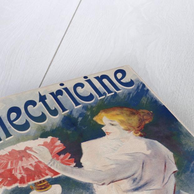 Electricine Poster by Lucien Lefevre