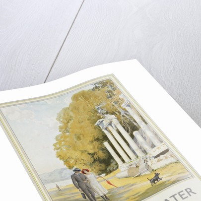 Virginia Water by Motor Bus Travel Poster by Frederick Pegram