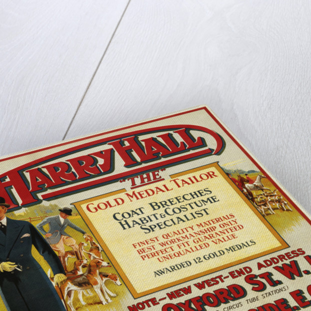 """Harry Hall - """"The"""" Gold Medal Tailor Advertisement Poster ..."""