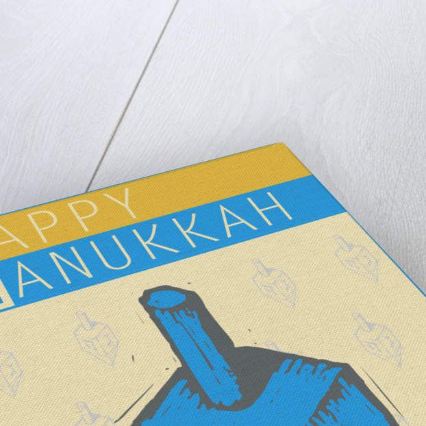 Happy Hanukkah with a Dreidel by Steve Collier