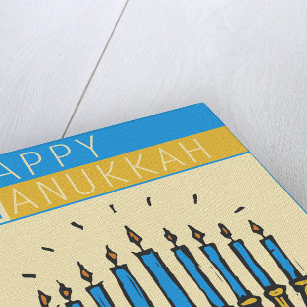 Happy Hanukkah with a Menorah by Steve Collier
