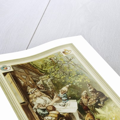 Book Illustration Depicting Snow White and the Seven Dwarfs by Hermann Vogel