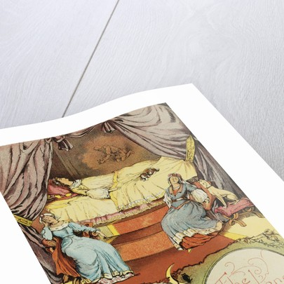 Book Illustration Depicting Sleeping Beauty and Her Attendants Asleep by Corbis