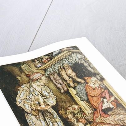 Illustration Depicting Santa Claus Delivering Gifts by Arthur Rackham