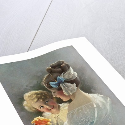 Postcard of Mother Holding Daughter by Corbis