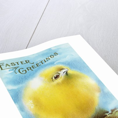 Easter Greetings Postcard with a Chick by Corbis