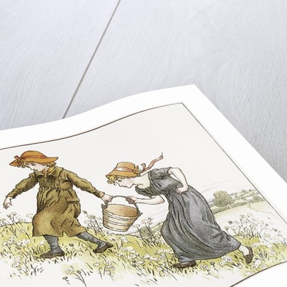 Illustration of Jack and Jill by Kate Greenaway