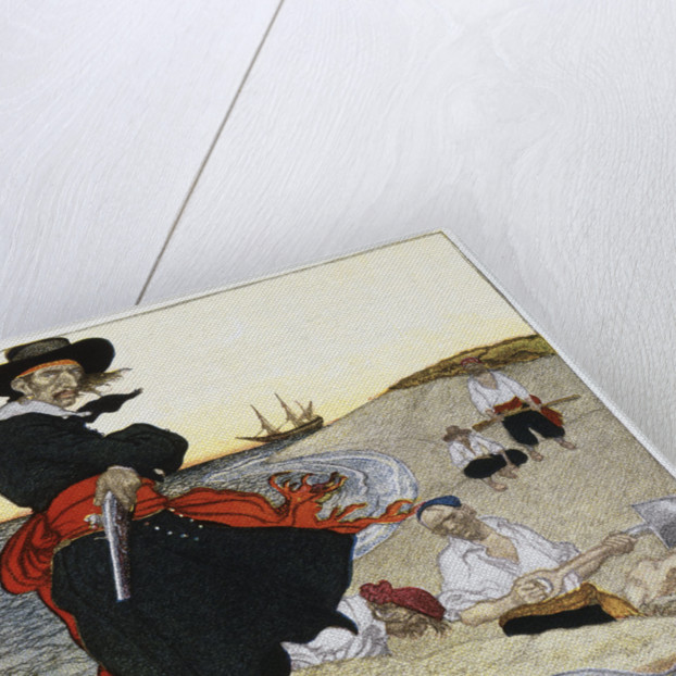 Buried Treasure Illustration by Howard Pyle