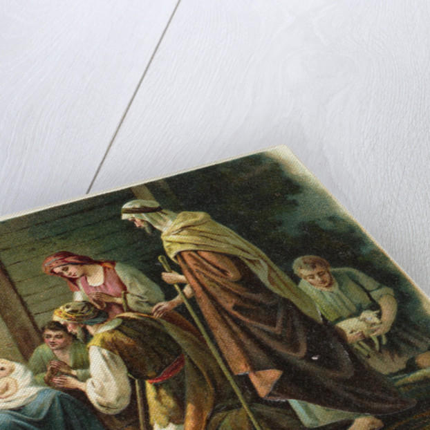 A Joyful Christmas Postcard with Nativity Scene by Corbis