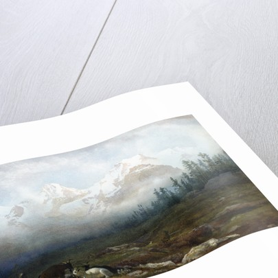 The Jungfrau, Monk and Eiger from Murren by Thomas George Cooper