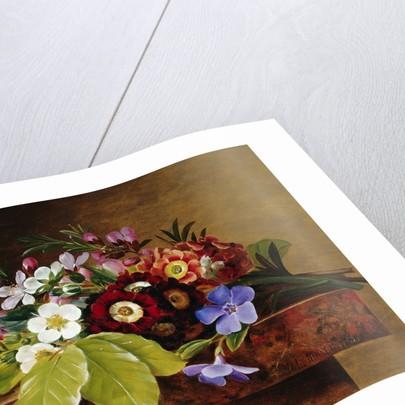A Bouquet of Apple & Cherry Blossoms, and Primula by Johan Laurentz Jensen