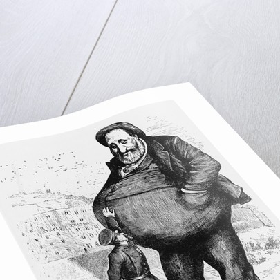 Can The Law Reach Him? The Dwarf and the Thief by Thomas Nast