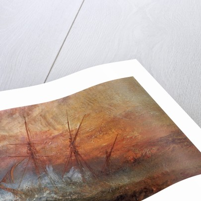 Detail of Sailing Ship from The Slave Ship by Joseph Mallord William Turner