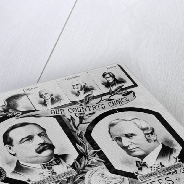 Election Poster for Grover Cleveland by Corbis
