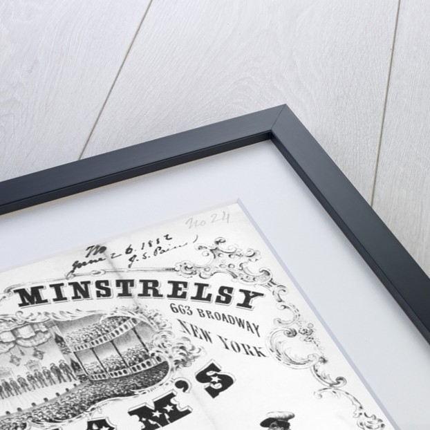 Advertisement For Minstral Show by Corbis