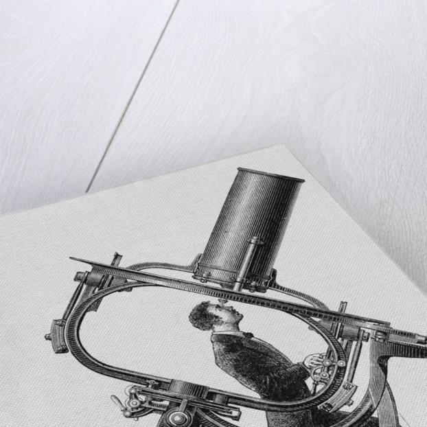 Telescope Stand; Man Inside by Corbis