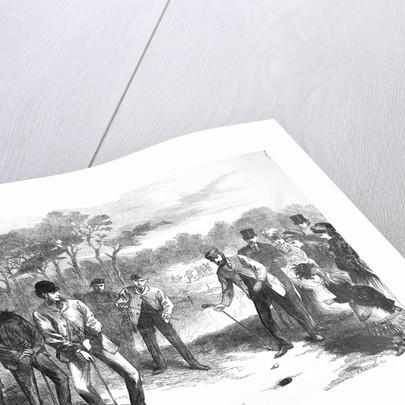 Golf Match; Engraving by Corbis