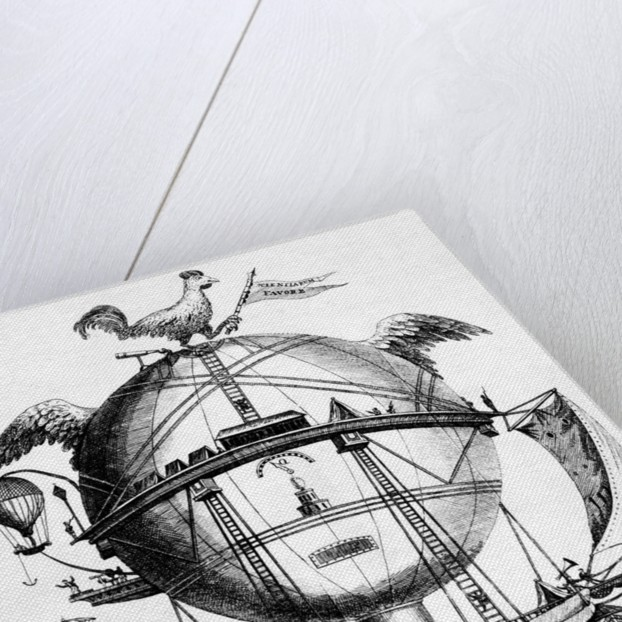 Cartoon Ridiculing Montgolfiere; Balloon by Corbis