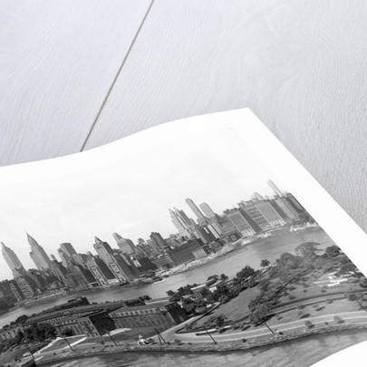 Manhattan Skyline and Welfare Island by Corbis