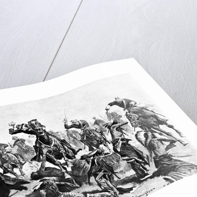 Custers Last Charge At Little Big Horn by Corbis