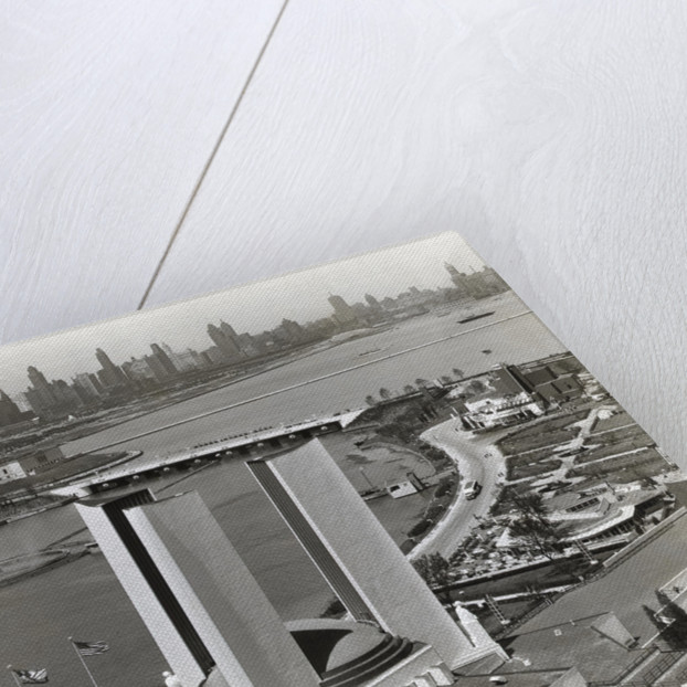 Overhead View Of Chicago Skyline by Corbis