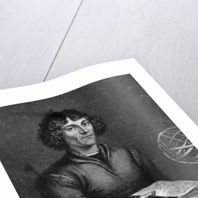 Engraving Of Copernicus Working by Corbis
