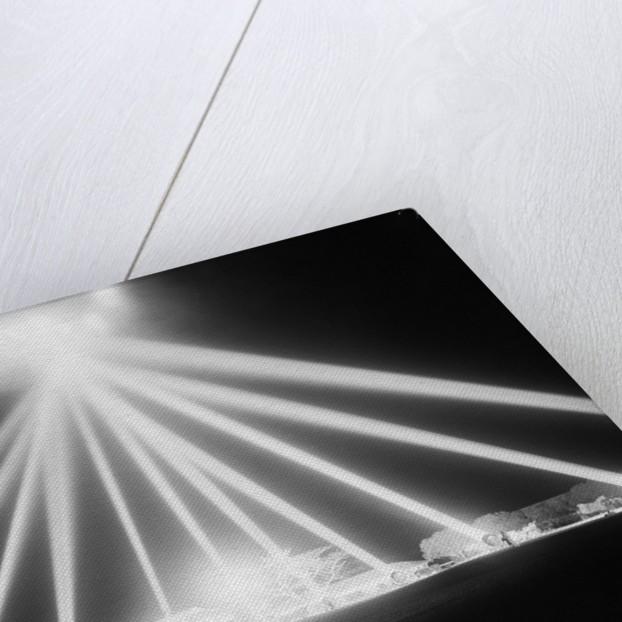 Anti-Aircraft Spotlights Probe the Skies by Corbis