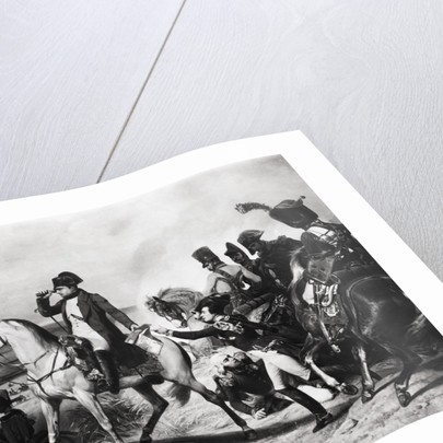 Napoleon with Soldiers on Battlefield by Corbis