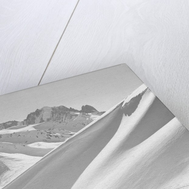 Lone Skier Shadowed by Mont Blanc