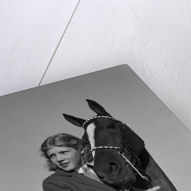 Teenage Girl with Her Horse by Corbis