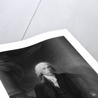 James Madison Seated At Table/Illustrati by Corbis