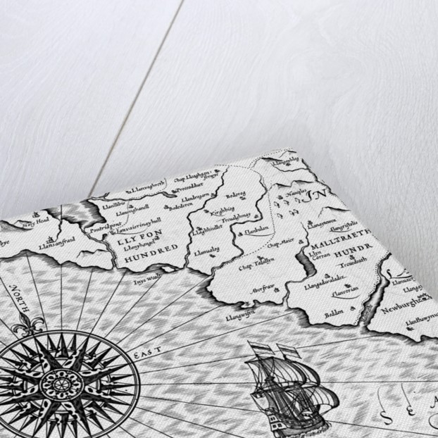 Detail of a Map of Wales by John Speed