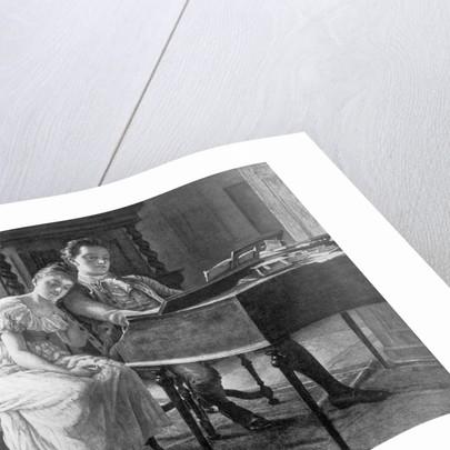 Felix Mendelssohn With His Sister by Corbis